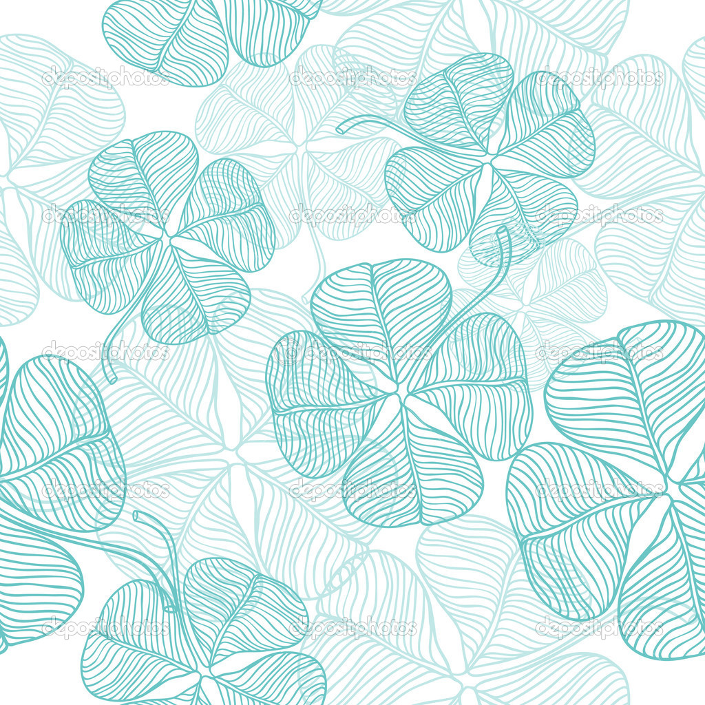 Vector illustration of abstract clover. (Seamless Pattern)