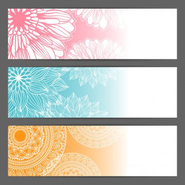 Vector beautiful floral illustration background.