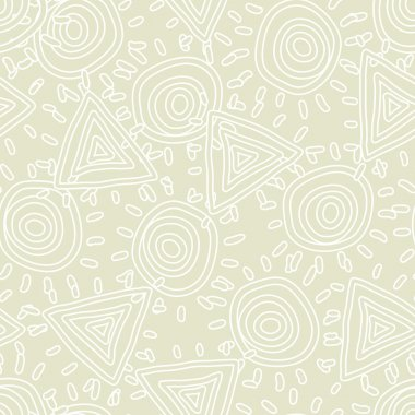 Seamless texture with abstract sun clip art vector
