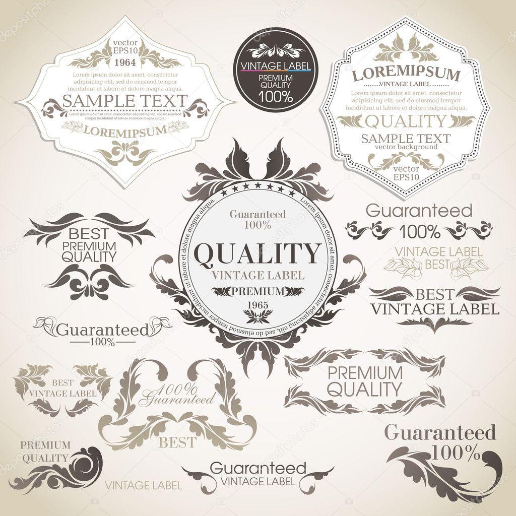 Vector set: calligraphic design elements and page decoration, Pr
