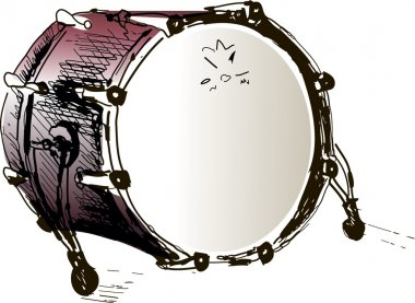 Drum, Vector illustration drum, music instrument, vector background