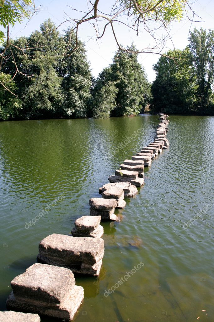 A row of stones