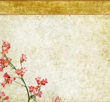 Floral background and design element