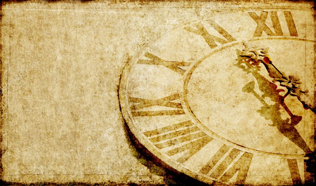 Lovely background image with an antique clock face — Stock