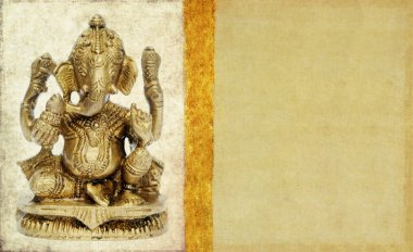 Lovely background image with figure of hindu deity ganesha. very useful design element.