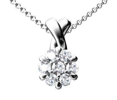 The beauty diamond pendant