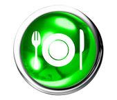 Restaurace zelená ikona tlačítko