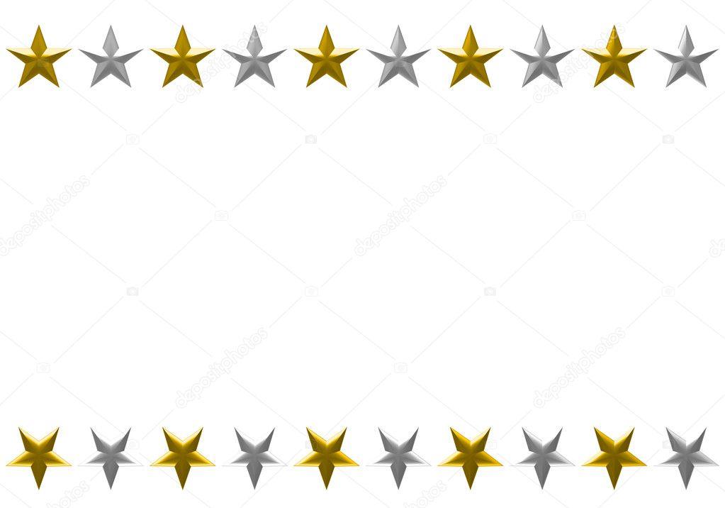 marco de Navidad estrellas aislada sobre fondo blanco — Fotos de ...
