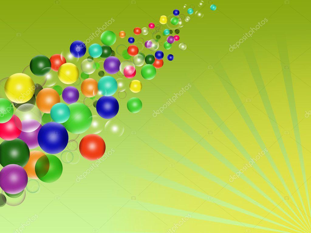 Sfondo colorato con palloncini vettoriali stock lily45 - Immagine con palloncini ...