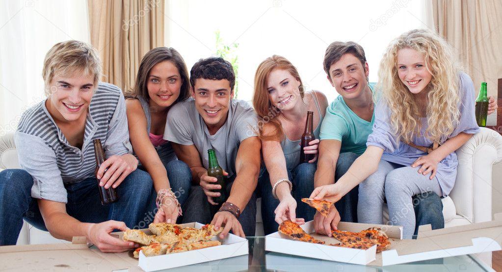 amigos comer
