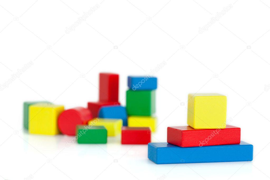Farbe Kinder Holzblöcke — Stockfoto © Wavebreakmedia #10581595