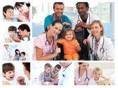 Koláž různých lékařských situací