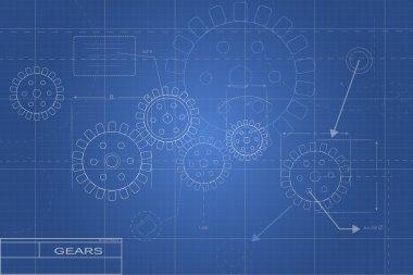 Blueprints Illustration stock vector