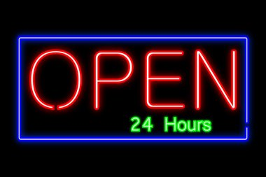 Neon Open Sign Illustration