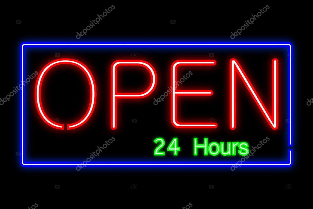 Neon Open Sign Illustration