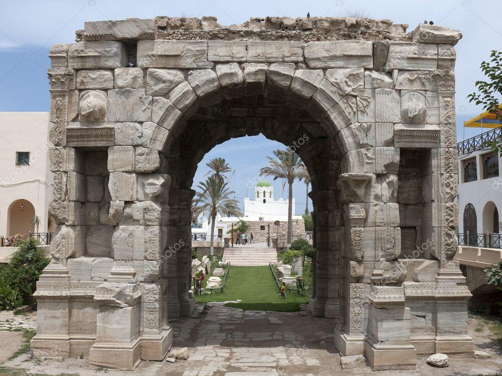 arco de triunfo de Marco Aurelio — Foto de stock © transnirvana ...