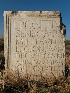 Ancient Roman Writing on Tablet