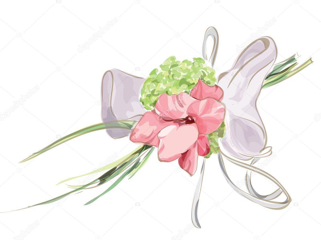 Wedding Floral Decor with Hydrangea and Gladiolus.