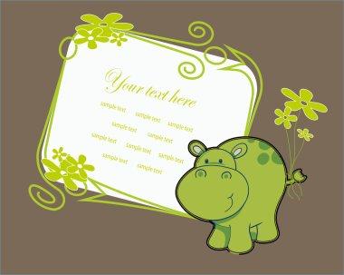 nice baby card. vector
