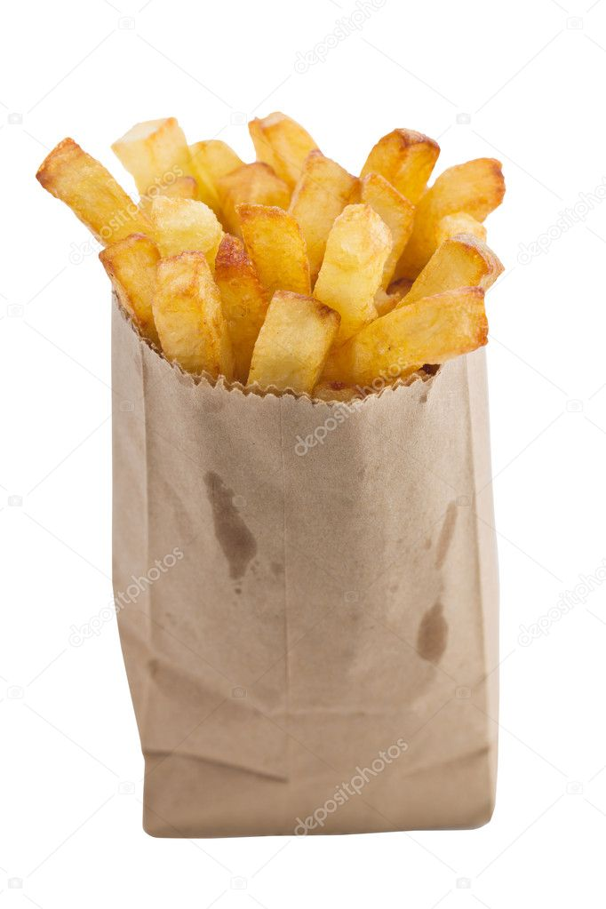 Isolated french fries