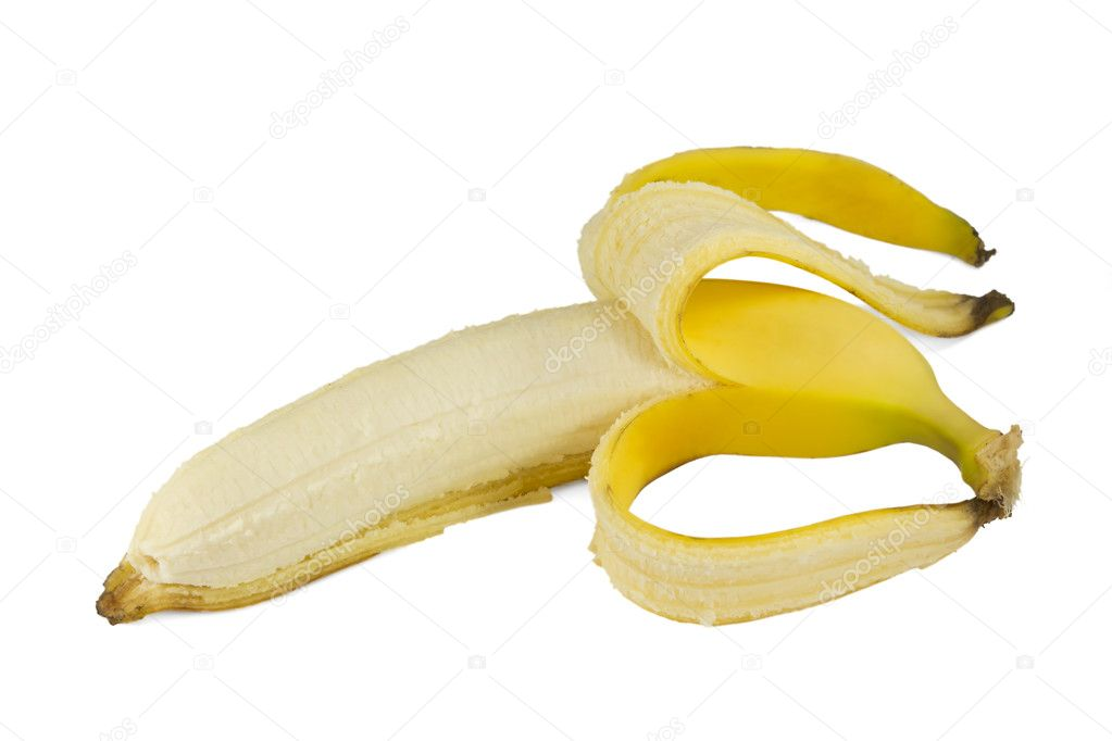 Sweet ripe banana isolated on white background