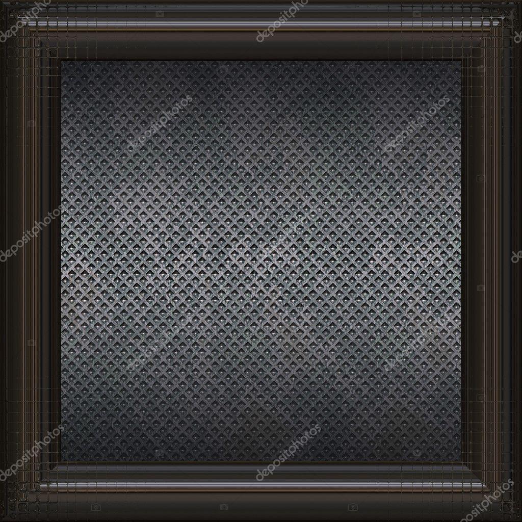Metallplatte im Rahmen — Stockfoto © Rateland #9994117