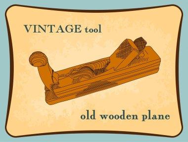 Hand drawn wooden plane, handplane