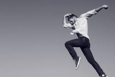 Modern jazz jump.