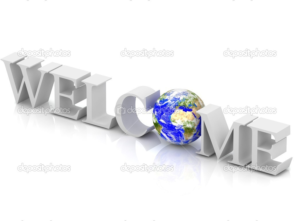 3d welcome text with abstract globe stock photo megastorm 10012924 3d welcome text with abstract globe photo by megastorm buycottarizona Gallery