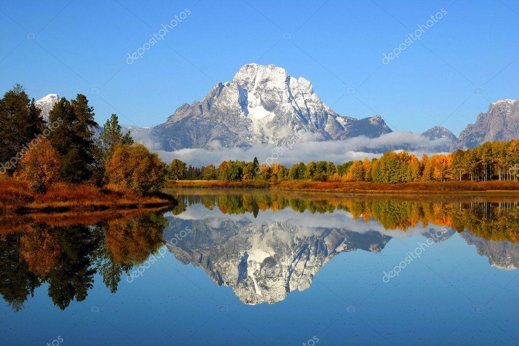 Grand Teton Mountain Reflection