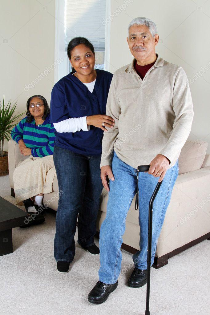 häusliche Pflege — Stockfoto © rmarmion #9999745