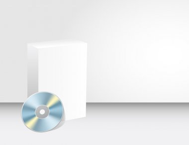 Blank 3d box with cd