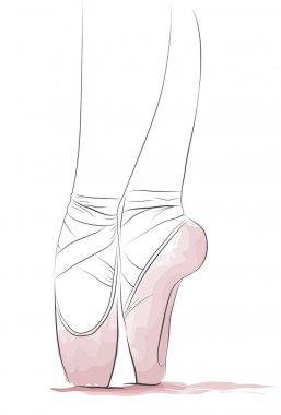 Dancer's feet en pointe