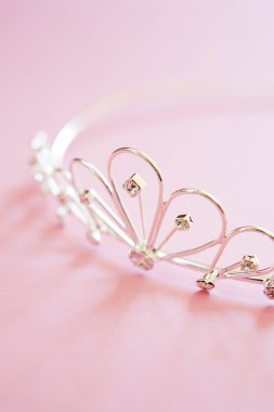 Wedding Tiara On Bridal Pink Background