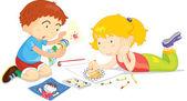 Fotografie děti kresba