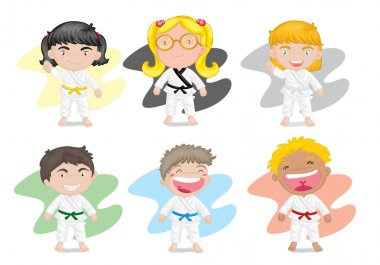 kids in karate dress