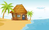 Fotografia bungalow spiaggia