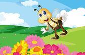 včela v poli
