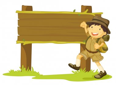 boy scout and sign