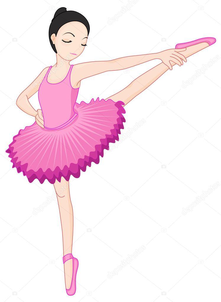 Scarica - Ballerina posa su bianco — Illustrazione stock #10273028