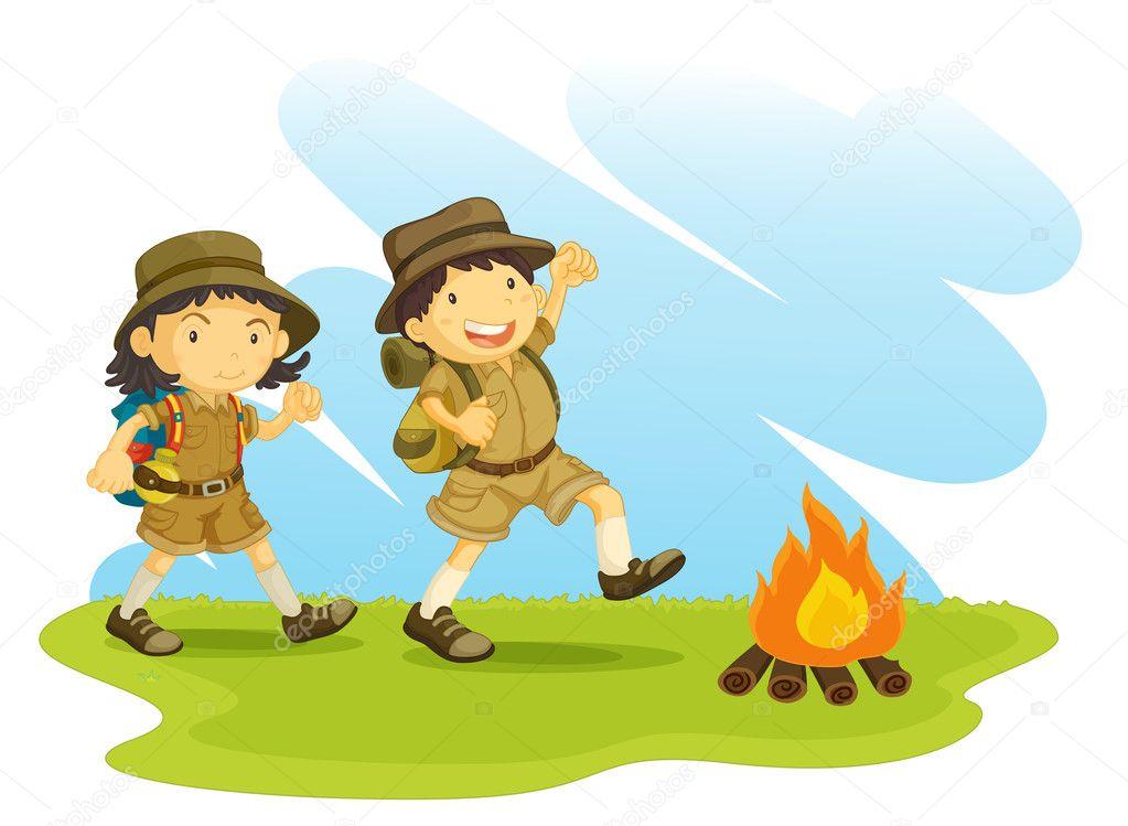 The Hiker's Scouting Clip Art | Boy scouts art, Scout, Boy scouts
