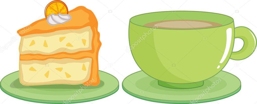 Kaffe Und Kuchen Stockvektor C Interactimages 10276234