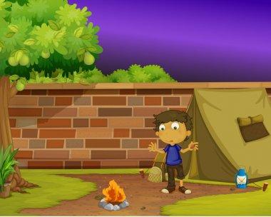 Boy camper