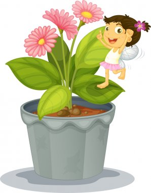 Angel on a plant