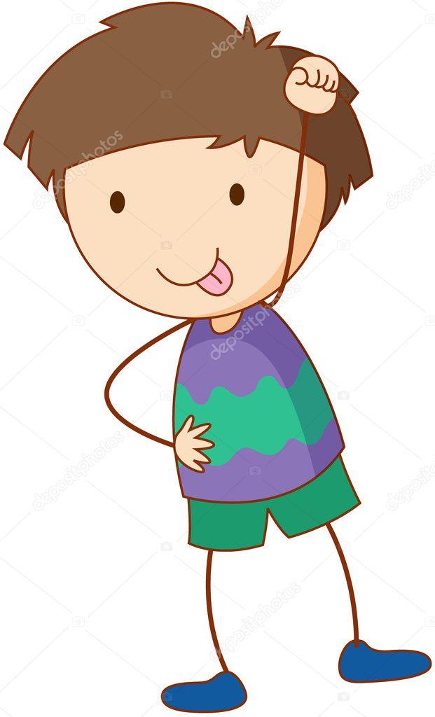 簡単な子供の漫画 ストックベクター Interactimages 10594168