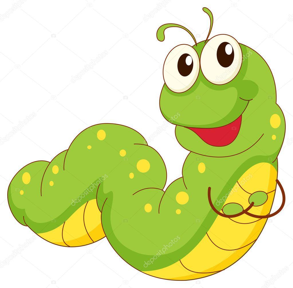 Caterpillar — Stock Vector © interactimages #10596293 Гусеница Вектор