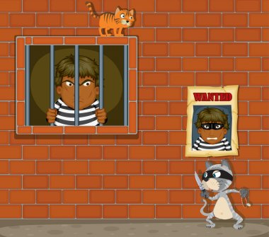 thief in jail