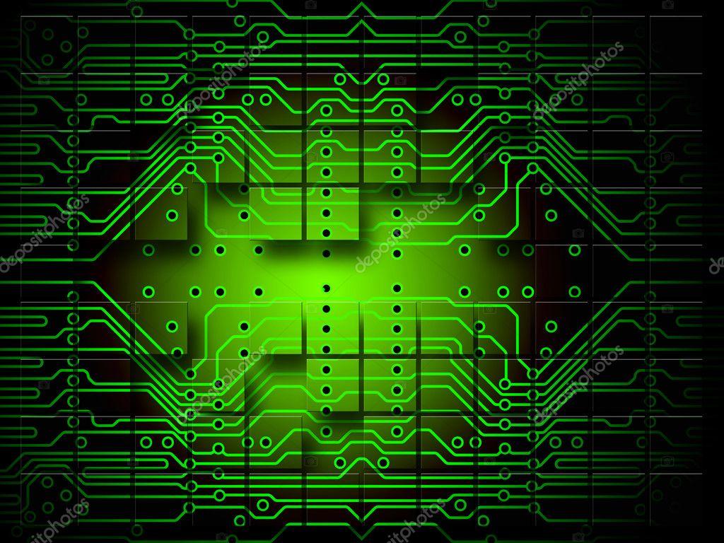 Circuito Eletronica : Grade de circuito eletrônico — stock photo norebbo