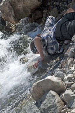Thirst in the mountain river