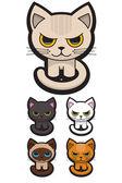 Set von fünf entzückende Katzen